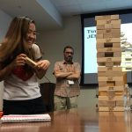 Scholars play Jenga