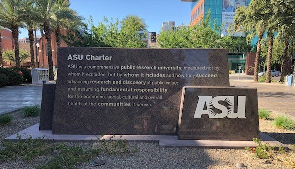 Engraved ASU mission statement