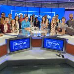 The group at the 12 News studio