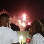 Watching fireworks in Birmingham
