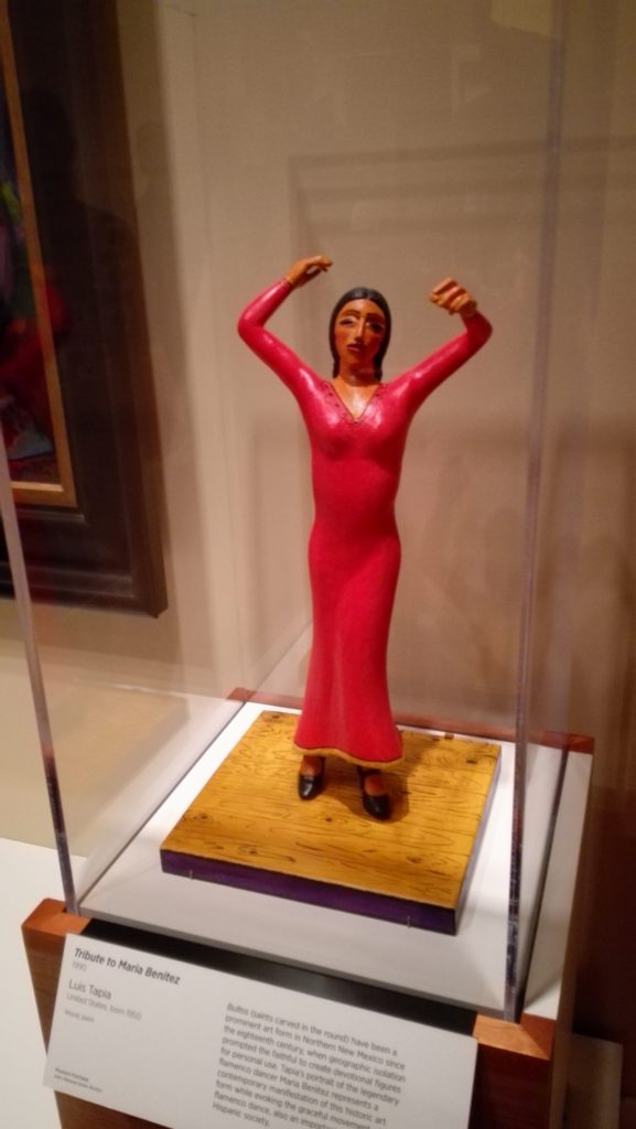 "Luis Tapia sculpture titled ""Tribute to Maria Benitez"""