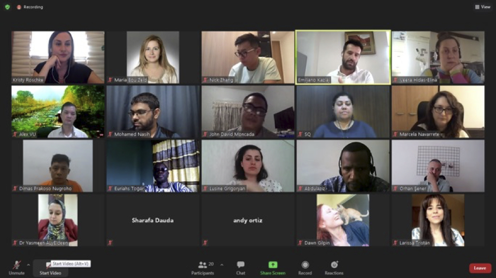 SUSI 2021 participants in Zoom