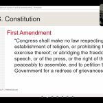 The First Amendment to the United States Constitution