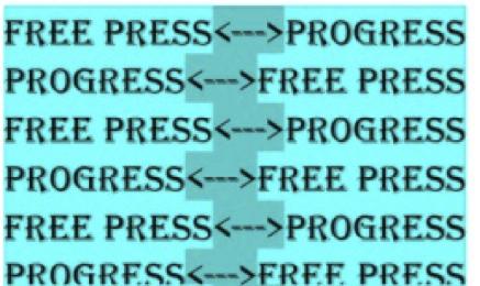 Free press and progress graphic