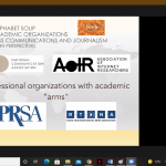 Slide showing some important academic and professional associations