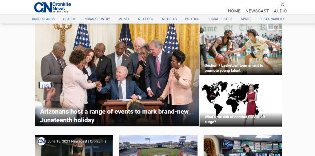 Cronkite News homepage